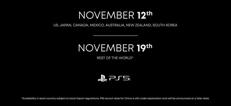 Sony PlayStation 5 release date and prices