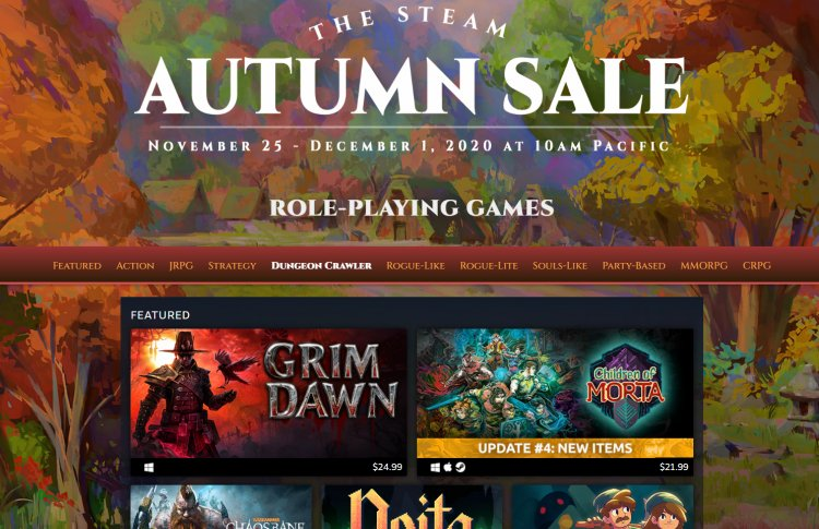 The Steam Autumn Sale 2020 was the largest in history financially