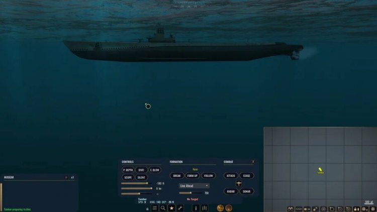 The submarine control interface is too complicated for an arcade game, too simplistic for a simulator, and too inconvenient for a strategy game.