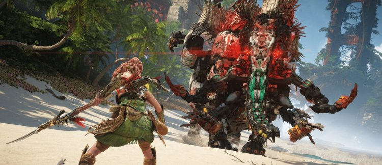Horizon: Forbidden West graphics for PlayStation 5 compared to Zero Down