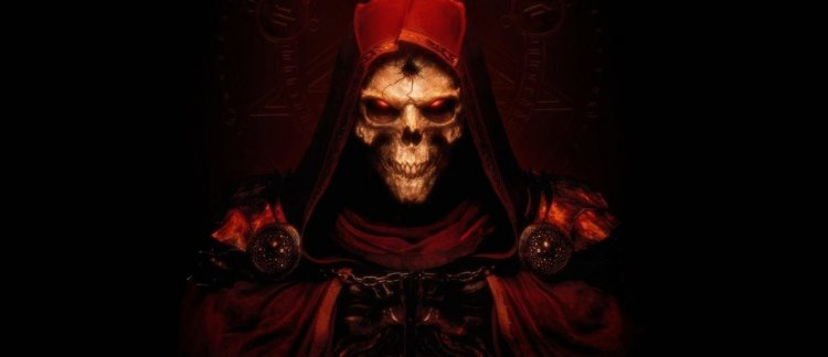 The RX 3060 and RTX 3070 Ti graphics cards are presented in the style of Diablo II: Resurrected