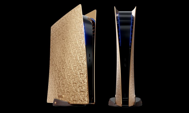 The golden PS5 was released on an ebony stand - it price $352,770